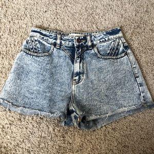 PACSUN high waisted denim shorts Brand is Bullhead